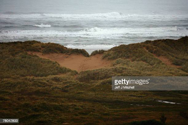 The area where Donald Trump plans to build his golf resort on the Menie Estate in Aberdeenshire November 21 2007 Mr Trump has been granted outline...