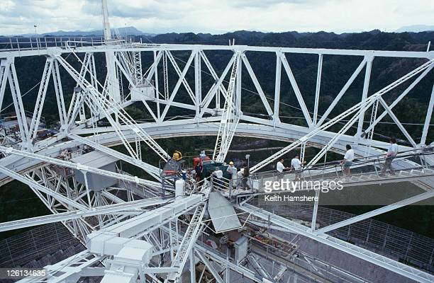The Arecibo Observatory in Arecibo Puerto Rico is used as a location for the James Bond film 'GoldenEye' 1995