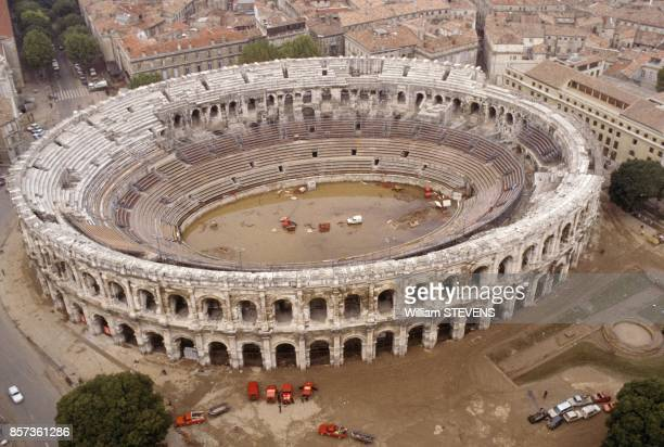 The Arena after floods on October 3 1988 in Nimes France