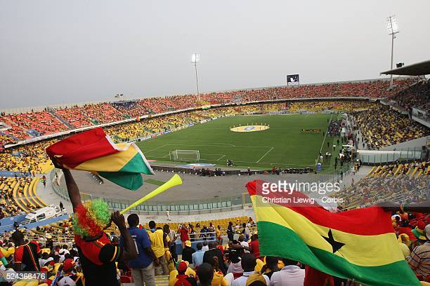 The arena before the start of the CAf African Cup of Nations Semimfinals match between Ghana and Cameroon in Accra Ghana