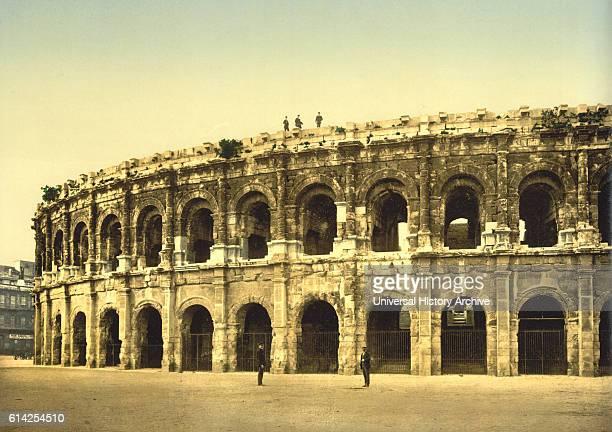 The Arena Nimes France Photochrome Print circa 1900