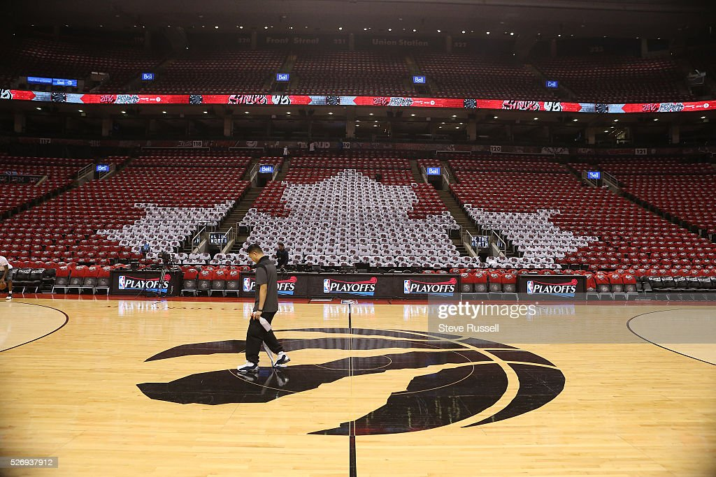 The Arena T Shirts Of The Raptors Game Tonight Are 416 And Since News Photo Getty Images