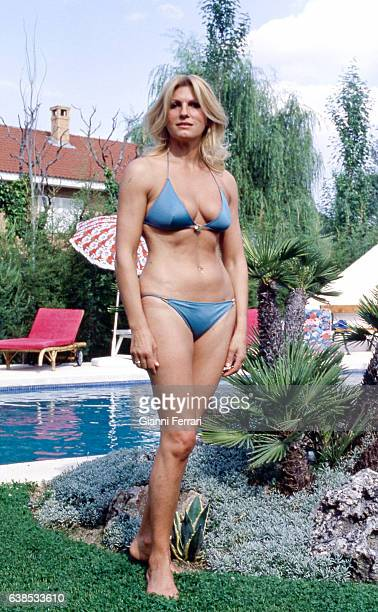 The Argentina actress Rossana Yanni at her home in Madrid Spain