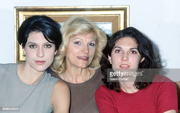 The Argentina actress Rossana Yanni with her daughters Shona and Sharon 16th April 1996 Madrid Spain