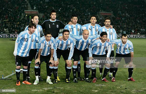 612e435ed7e The Argentina team group before the International Friendly match between  Argentina and Portugal at the Stade
