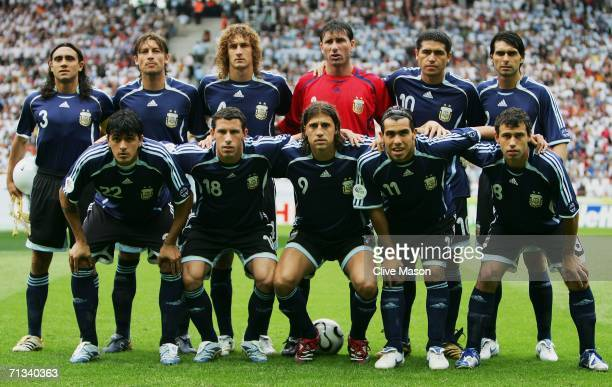 The Argentina team line up for a group photo prior to the FIFA World Cup Germany 2006 Quarterfinal match between Germany and Argentina played at the...