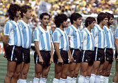 The argentina team line up for the national anthems prior to the fifa picture id902697738?s=170x170