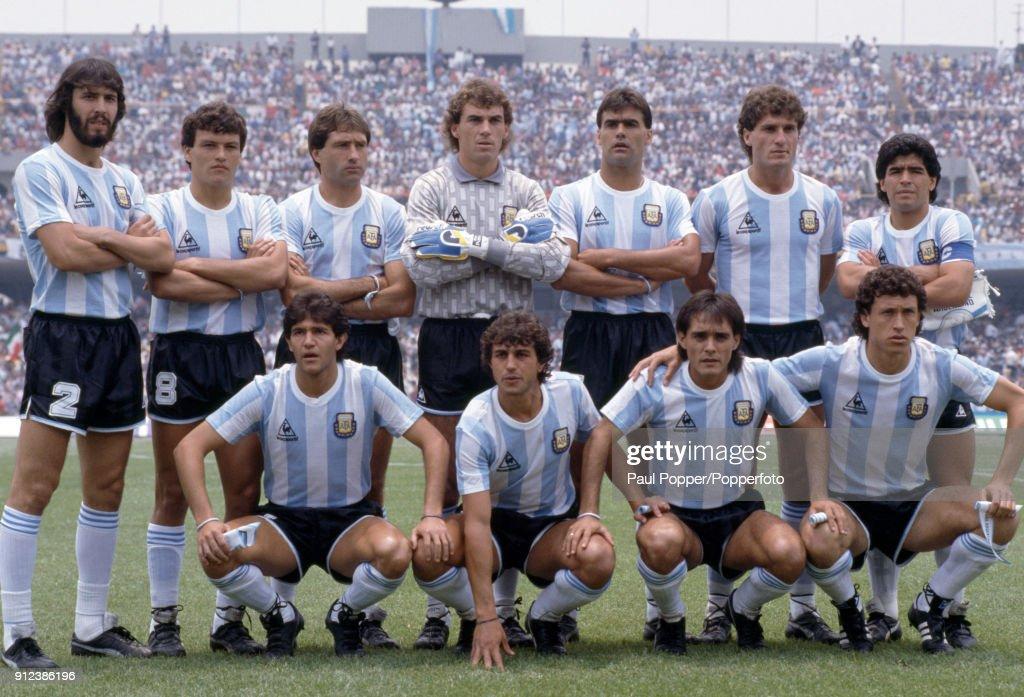 1986 FIFA World Cup - Argentina v South Korea : News Photo