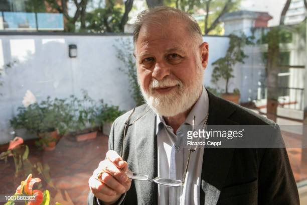 The Argentine Canadian essayist novelist editor and Director of theNational Library of Argentina Alberto Manguel during an exclusive portrait...