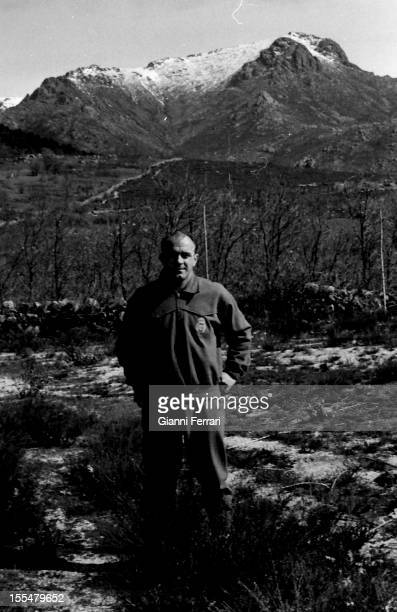 The Argentine soccer player of Real Madrid Alfredo Di Stefano in the 'Sierra de Navacerrada' Madrid Castilla La Mancha Spain
