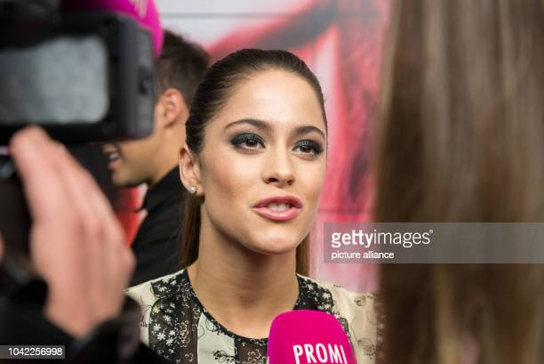 The Argentinian actress Martina Stoessel gives interviews at a photocall on the occasion of the the cinema release of 'Tini The Movie' at Cafe Moskau...