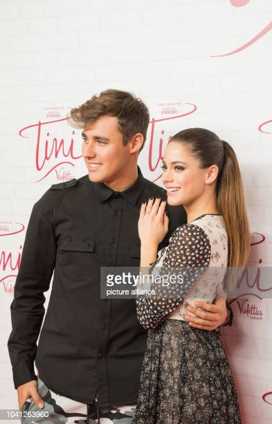 The Argentinian actress Martina Stoessel with her colleague Mexican actor Jorge Blanco at a photocall on the occasion of the the cinema release of...