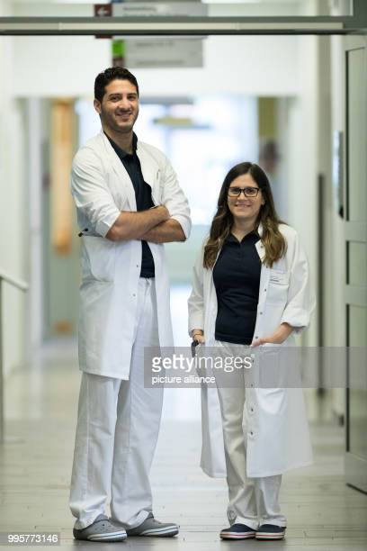 The Argentinian doctors Alvaro Navarro and Diana Grau photographed at the Borromaeus Hospital in Leer Germany 2 October 2017 In the past years...