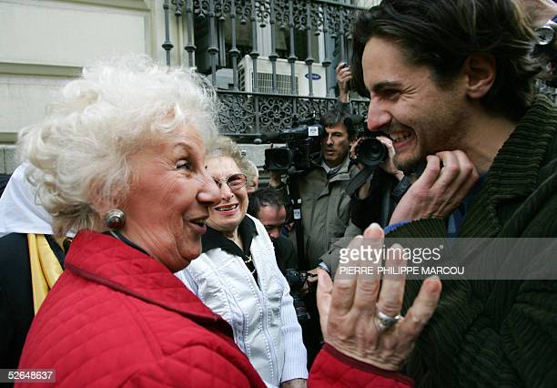 The Argentinian President of the Abuelas de Plaza de Mayo Estella Barnes de Carloto representing relatives of those who disappeared under the...