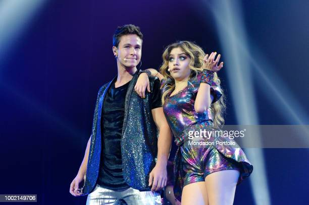 The Argentinian singer and actress Soy Luna and Ruggero Pasquarelli at the Palaottomatica in Roma Italy Rome January 27 2018