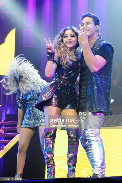 The Argentinian singer and actress Soy Luna and the italian actor Ruggero Pasquarelli at the Palaottomatica in Roma Italy Rome January 27 2018