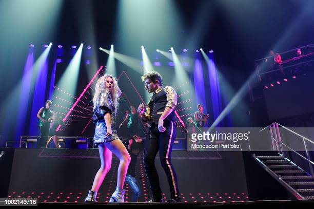 The Argentinian singer and actress Soy Luna with Michael Ronda at the Palaottomatica in Roma Italy Rome January 27 2018
