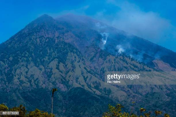 BR KEDAMPAL KARANGASEM BALI INDONESIA The arid northeastern slopes of Mt Agung in the Kubu district are subject to seasonal brush fires and have...
