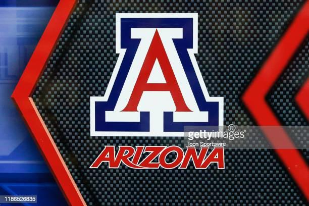 The Arizona Wildcats logo during the college football game between the Arizona Wildcats and the Arizona State Sun Devils on November 30, 2019 at Sun...