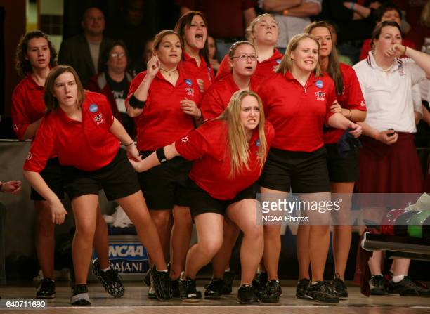 The Arkansas State women's bowling team waits for a pin to drop during their six game loss to the University of Maryland Eastern Shore in the...
