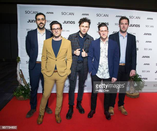 The Arkells walk the red carpet at the Juno Gala Dinner and Awards at the Vancouver Convention Centre on March 24 2018 in Vancouver Canada