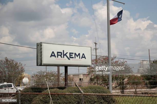 The Arkema plant received major damage from flooding caused by Hurricane and Tropical Storm Harvey on September 4 2017 in Crosby Texas Today...