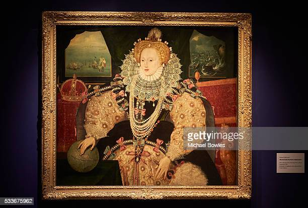 The Armada Portrait of Queen Elizabeth I on display as Art Fund and Royal Museums Greenwich launch public appeal to save famous portrait of Elizabeth...