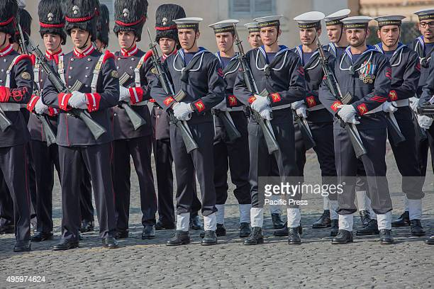 The Armed Forces pay their homage during the National Unity and Armed Forces Day on 4th November President of Italian Republic Sergio Mattarella...