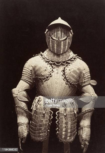 [The Armor of Philip III] Albumen silver print from glass negative, Image: 33.3 x 23 cm , Photographs, Charles Clifford , For a sixteenth-century...