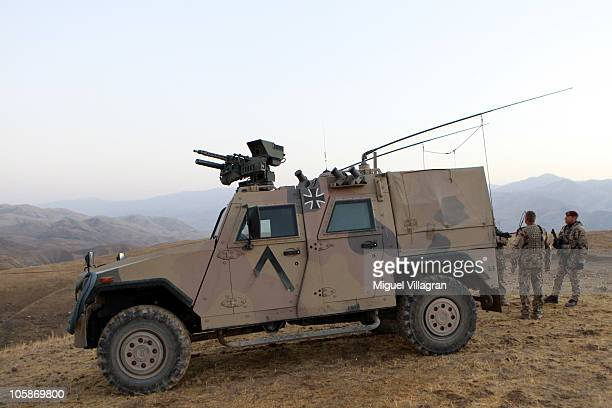 The armored vehicle Eagle IV is pictured on October 10 2010 in Feyzabad Afghanistan Germany has more than 4500 military forces in Afghanistan as part...