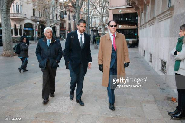 The Army admiral and president of Trapsa Yachts Juan Carlos Rodríguez Toubes arrives at the National Audience to attend the 'Mar Blau' case hearing...