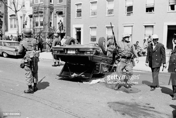 The army are called out during riots in Washington DC following the assassination of civil rights activist Martin Luther King Jr April 1968