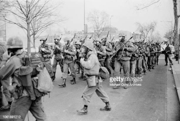 The army are called out on Maryland Avenue to deal with riots in Washington DC following the assassination of civil rights activist Martin Luther...