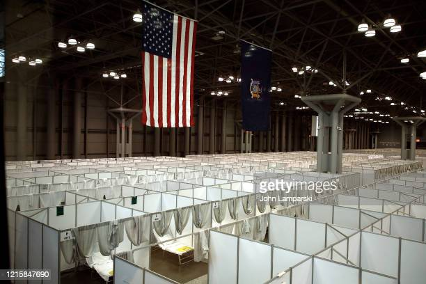 The Army Corps of Engineers have established a temporary field hospital at Jacob Javits Convention Center in New York City in response to the COVID19...
