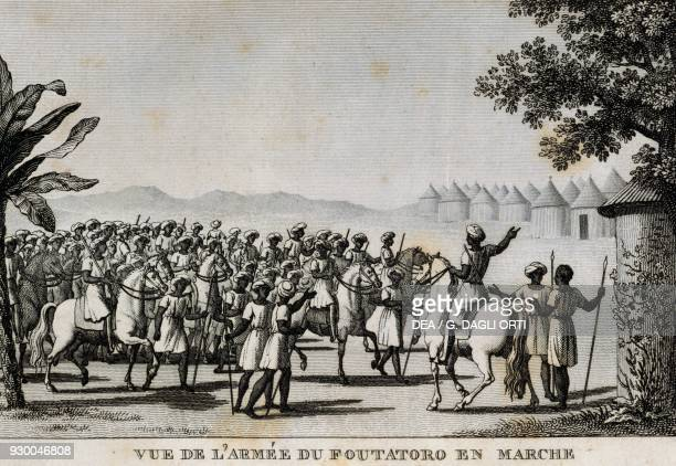 The army of Futa Tooro by Ambroise Tardieu engraving France 19th century