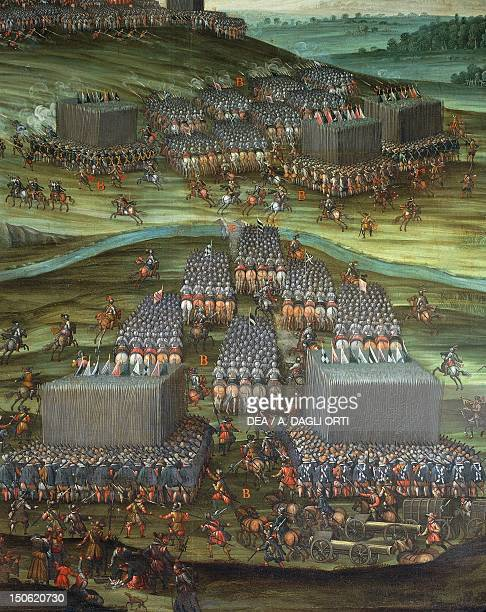 The army of the Most Serene Duke of Bavaria, detail from Deployment of the troops in the White Mountain in the first phase of the Battle of White...