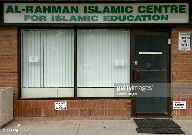 The Ar-Rahman Islamic Centre is seen June 5, 2006 in Mississauga, a suburb of Toronto, Ontario, Canada. Six of the Canadians arrested on terrorism...