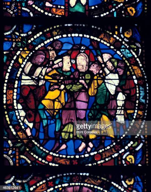 The Arrest of Christ stained glass Chartres Cathedral 11941260
