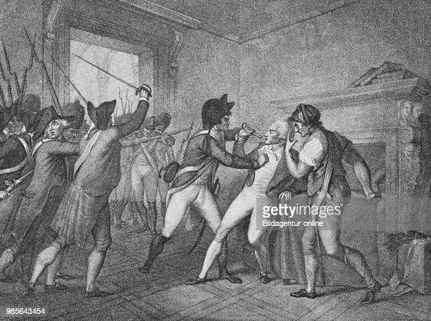 The Arrest of Maximilien de Robespierre May 6 1758 July 28 also called The Incorruptible a French lawyer revolutionary and leading politician of the...