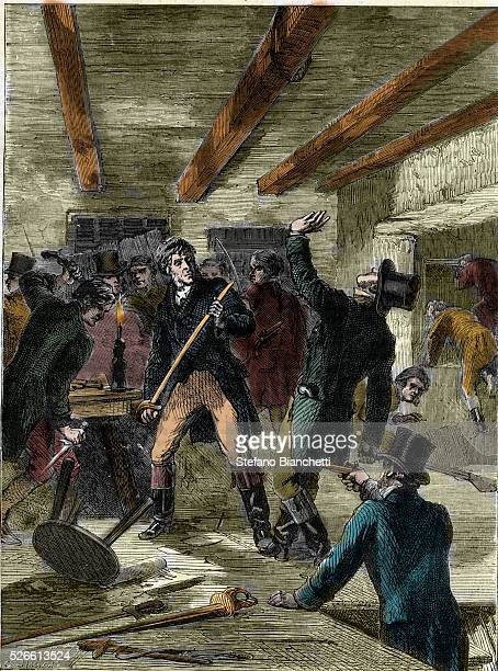 The arrest of the Cato Street conspirators The Cato Street conspirators 1820 Three Bow Street officers have entered the loft above the stable the...