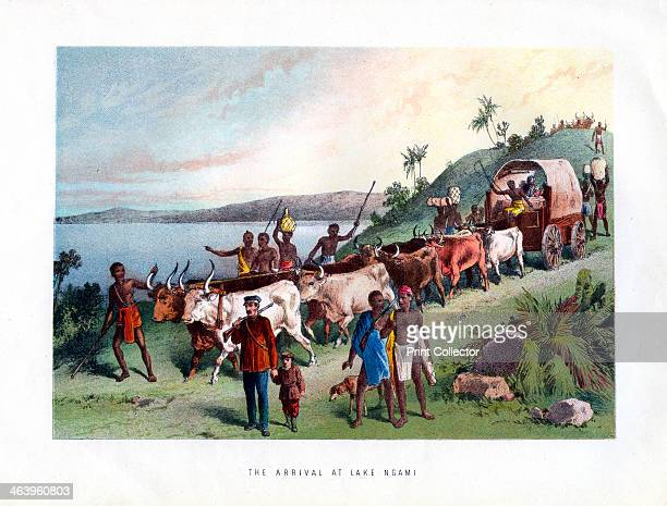 'The Arrival at Lake Ngami' 19th century Lake Ngami is a lake in Botswana north of the Kalahari Desert It is seasonally filled by the Okavango River...