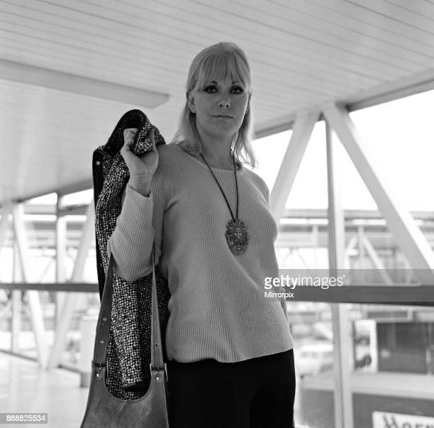 The arrival of actress Kim Novak at Heathrow Airport today from Los Angeles She is here for two weeks to replace Rita Hayworth in a film 11th...