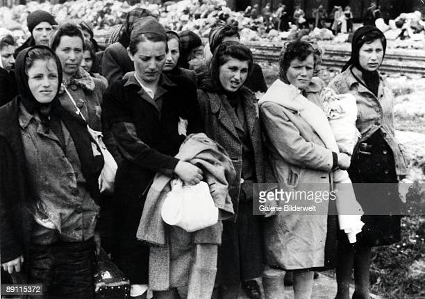 The arrival of Hungarian Jews in Auschwitz-Birkenau, in German-occupied Poland, June 1944. Between May 2nd and July 9th, more than 430,000 Hungarian...