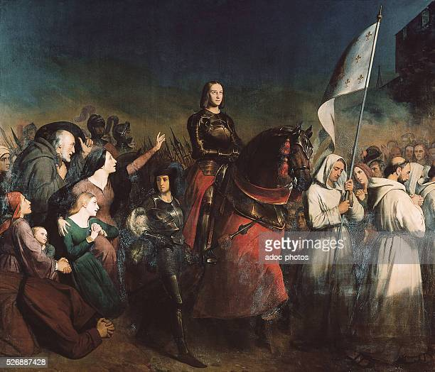 The arrival of Joan of Arc in Orleans 8 May 1429 Oil on canvas by Henry Scheffer In 1843 Versailles châteaux de Versailles et de Trianon