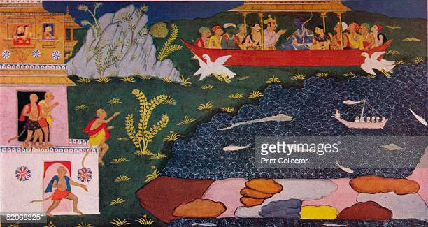 The Arrival of Rama and Sita in the Aerial Car 18th century After an 18th century manuscript of the great Hindu epic The Ramayana From 'The...