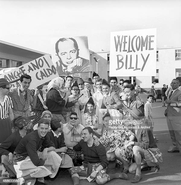 The arrival of the Austrian/born American director Billy Wilder at the Ciampino Airport on the occasion of the launching of the film Some Like It Hot...