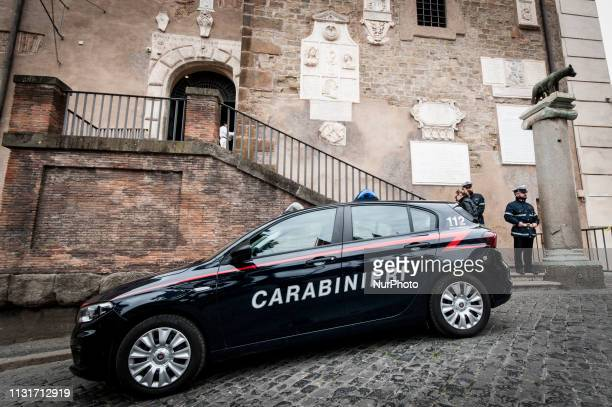 The arrival of the Carabinieri at the Capitol where searches of the offices are underway after the arrest of the President of the Capitoline Assembly...