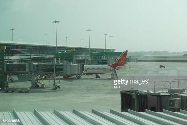 The arrival of the first commercial flight at the new Integrated Terminal 3 of IGI airport