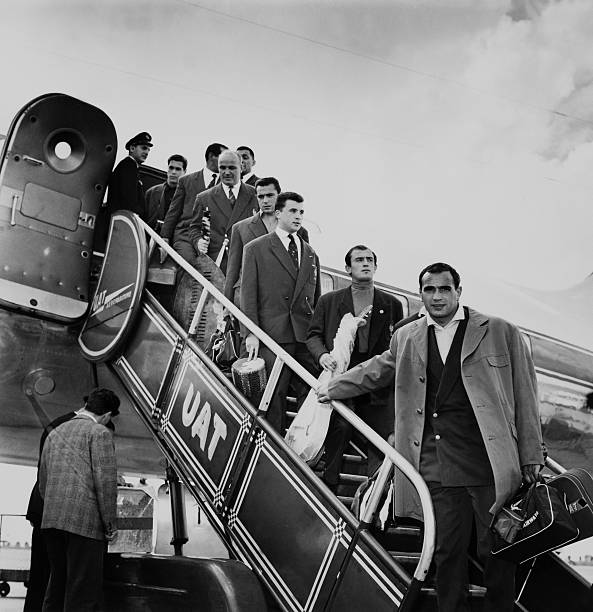 the arrival of the french rugby team from south africa on august