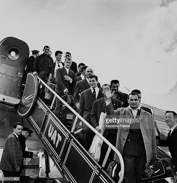 The Arrival Of The French Rugby Team From South Africa On August 1958